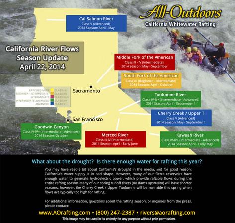 spring rafting map