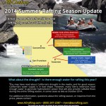 2014 summer whitewater rafting update map