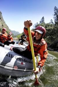 Tuolumne Rafting Paddler