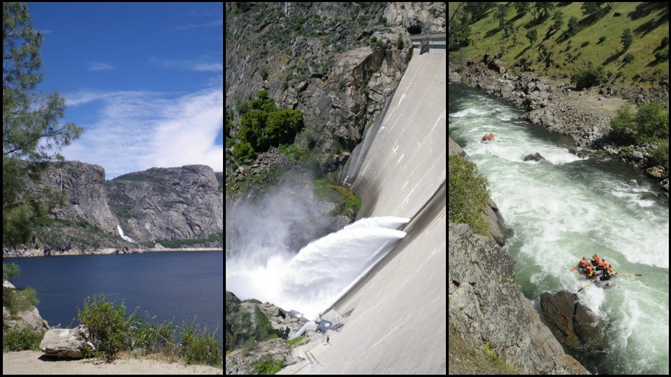 Rafting on dam-controlled rivers
