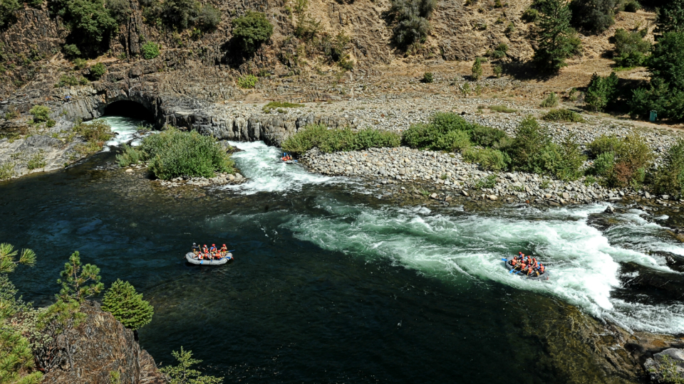 Tunnel Chute Rapid on the Middle Fork American River