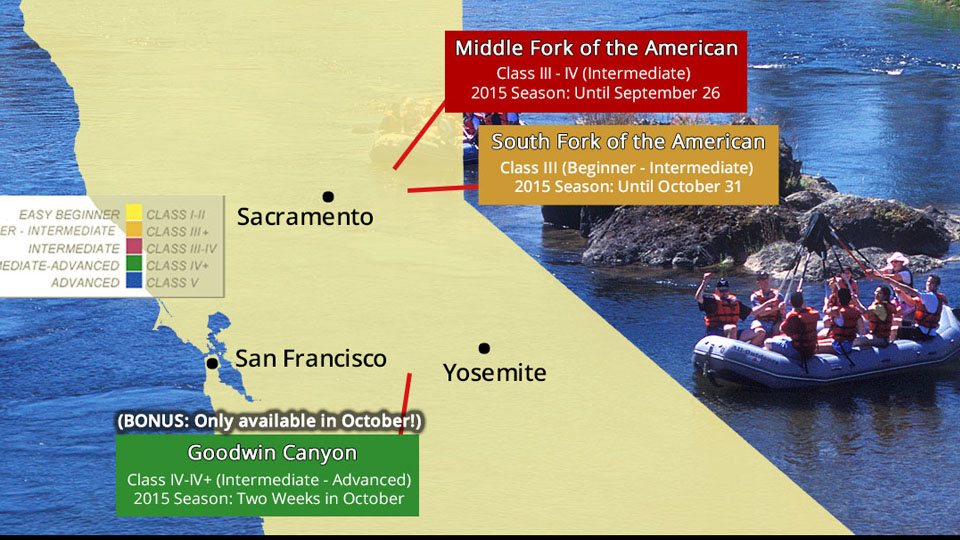 Fall Whitewater Rafting Update for California