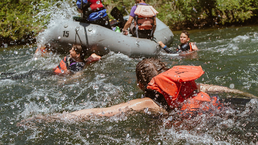 Getting back in the raft
