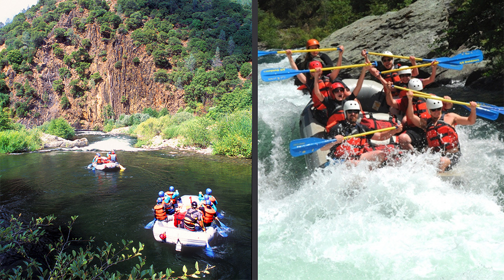 American River Rafting on the Middle Fork