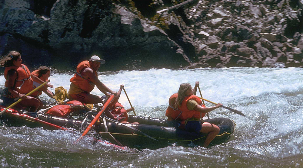 The first commercial rafting trips begin (1969)
