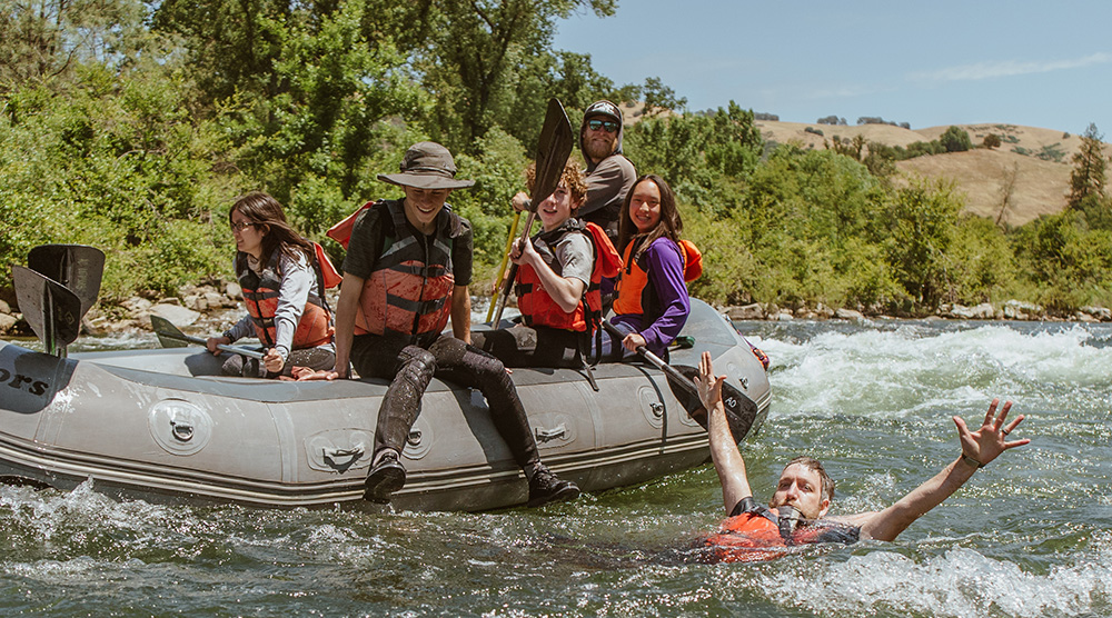 Family swimming on the South Fork - Family Rafting