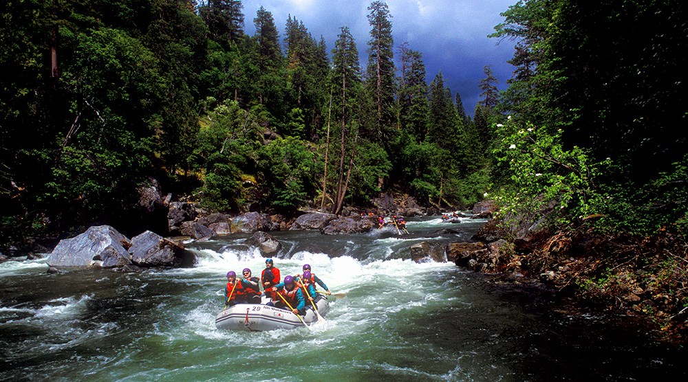 Spring Rafting ion the North Fork Stanislaus